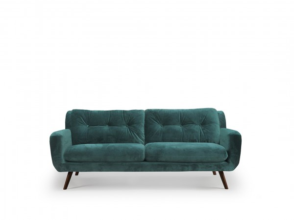 ethnicraft-sofa-n801-3sitzer-green-velvet